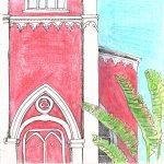 La Iglesia y palmeras, Grecia