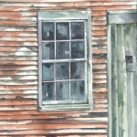 abandoned barn _ watercolor 15inx11in - $500