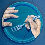 anticipation _ acrylic on wooden plate 12inx12in- $800