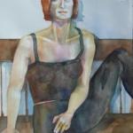 dancer _ watercolor, 14inx11in - $350