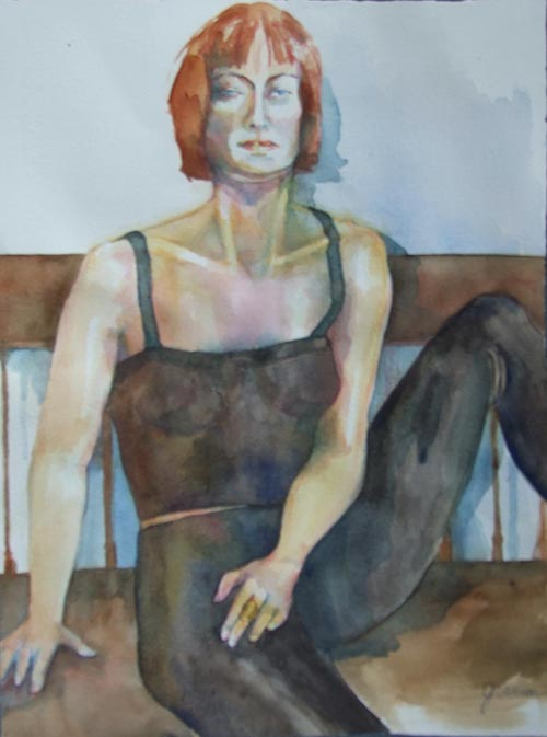 dancer _ watercolor, 14inx11in - $350