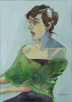 girl_at_piano _ watercolor 14inx11in - $400