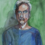 john _ watercolor 14inx11in - $400