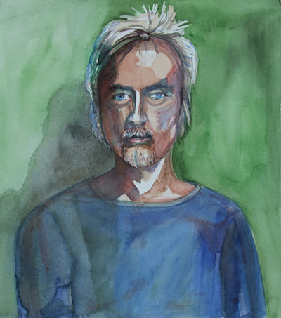 john _ watercolor 14inx11in - $400