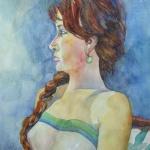 michelle _ watercolor 20inx15in - $500