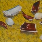 Miracle break - watercolor 14in x 22in - $800