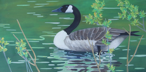 mother_goose _ acrylic 15inx30in - $1800