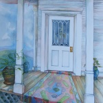 porch 1 _ watercolor 30inx22in - $3000