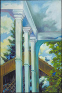 porch 2 _ oil on canvas - 18inx12in - $1000