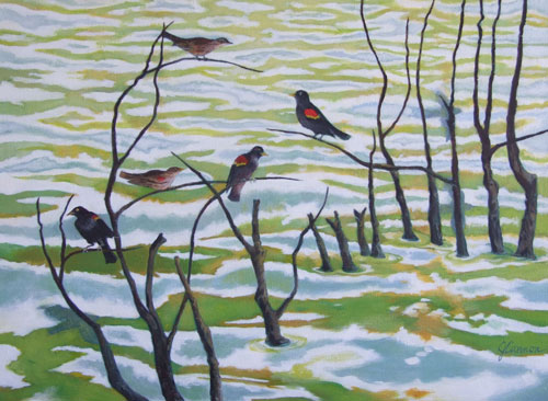 redwings _ acrylic 18inx24in - $1800