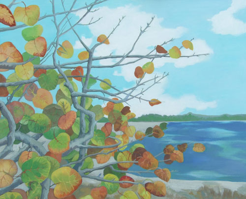 sea grapes - acrylic 16in x 20in - $1200