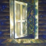 the open door _ oil on canvas 36inx30in - NFS