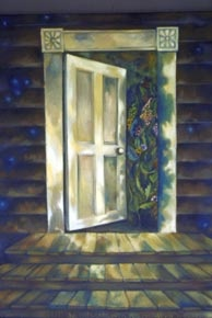 the open door _ oil on canvas 36inx30in - NFS