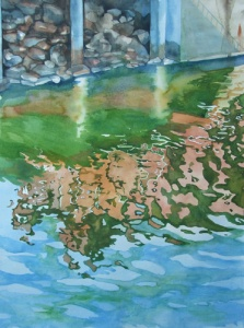 the_champlain_mill _ watercolor 30inx22in - $3000